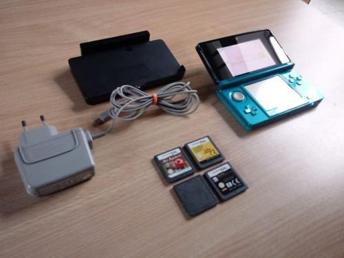 Nintendo 3ds + juegos + cargador + dock!! ($11000 en mano)
