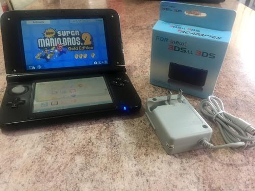 Nintendo 3ds xl + 3 juegos + cargador nuevo + memoria 16gb