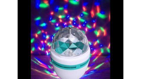 Oferta! bola luces led rgb giratoria e27. 3 colores. efecto