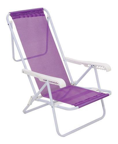 Reposera sillon playa camping 8 posiciones acero sannet mor