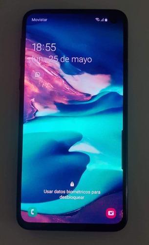 Samsung galaxy s10e caja, accesorios funda y vidrio templado