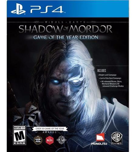 Shadow of mordor goty ps4 juego cd original fisico sellado