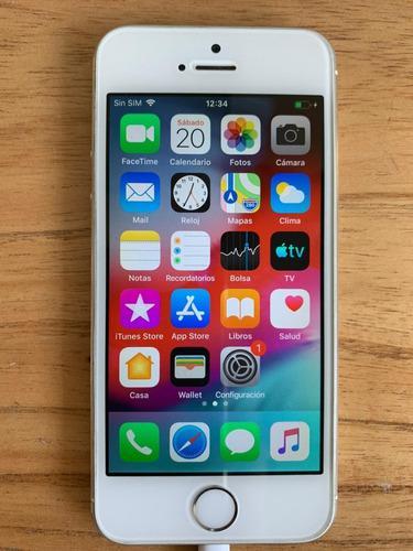 Iphone 5s 32gb silver/blanco liberado + caja y accesorios
