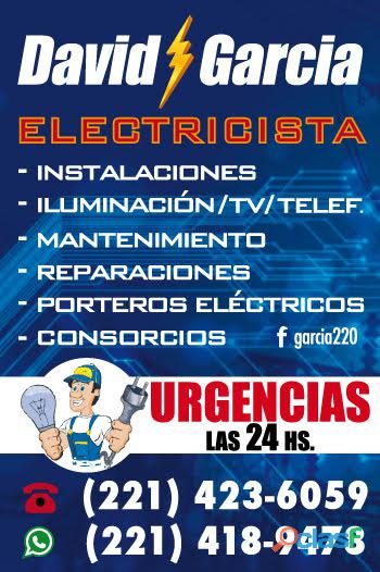Electricista urgencias 24hs.david garcia