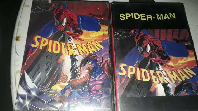 2 cartuchos de sega de SPIDER MAN usados