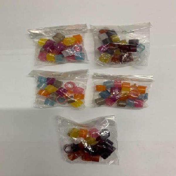 Anillos de color plasticos surtidos x 20 u 7 Mm ( abiertos )