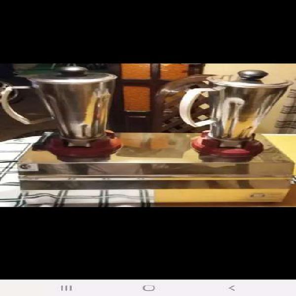 Batidoras doble vaso de acero inoxidable está nueva