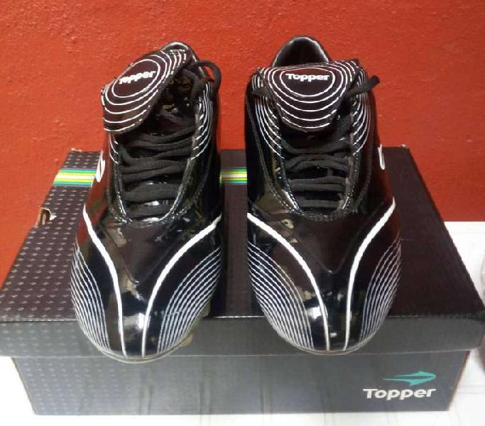 Botines topper shoot star tf negro/blanco