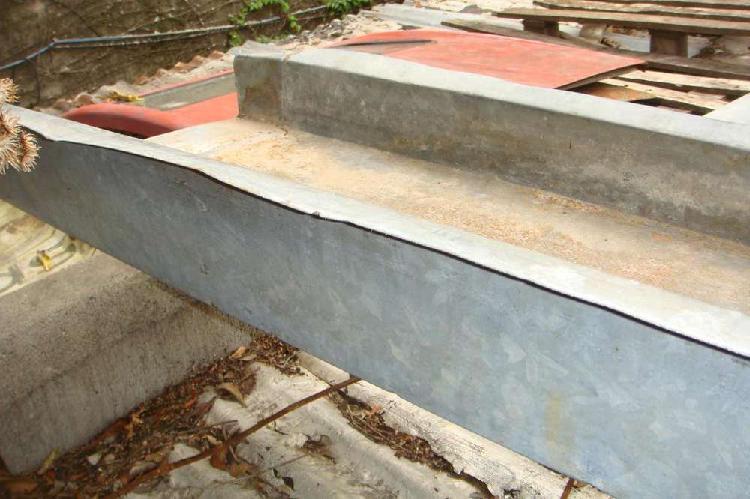 Canaleta desague para techo chapa galvanizada