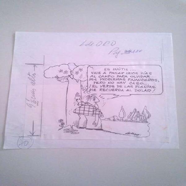 Dibujo Original Patoruzu Libro Oro Firmado Dolar Lembo