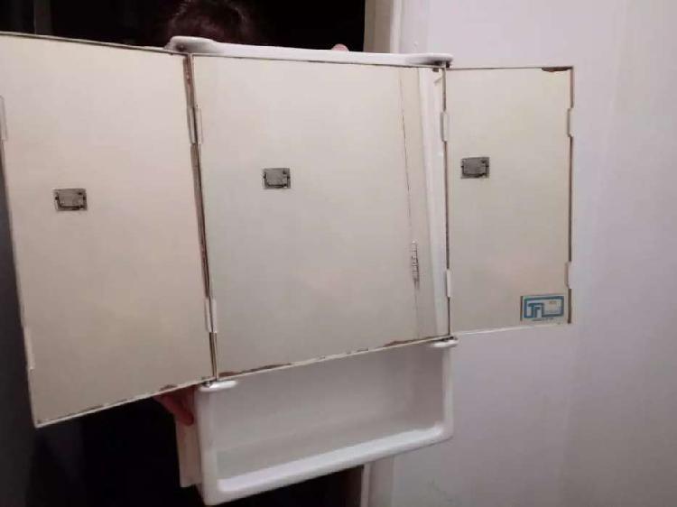 Espejo botiquín baño 55 x 45 melamina blanco