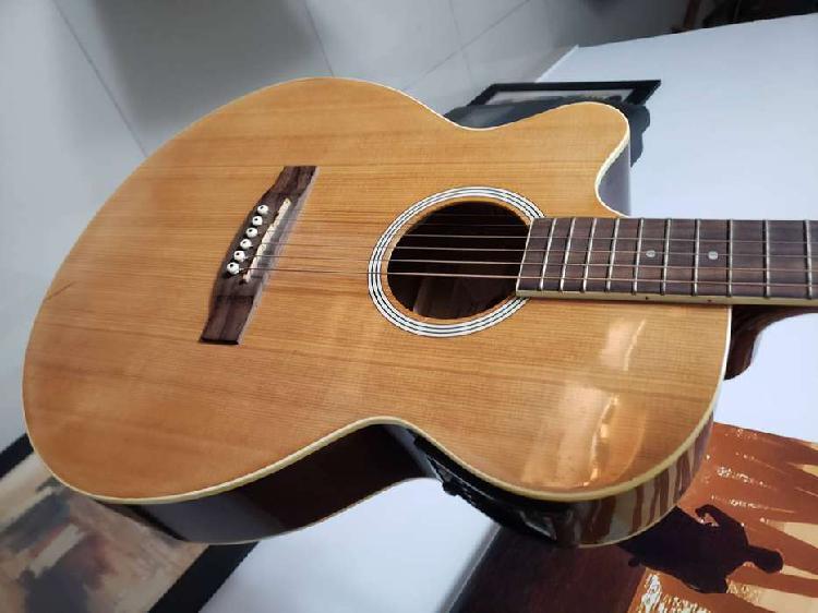 Guitarra electro acustica zurdo stagg como nueva!