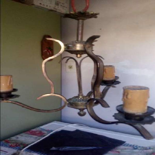 Lampara bronce antigua