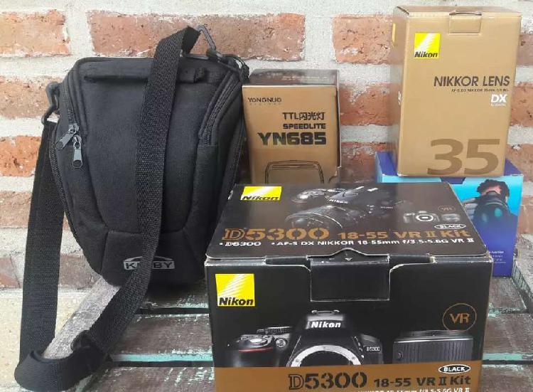 Nikon d5300 kit + accesorios