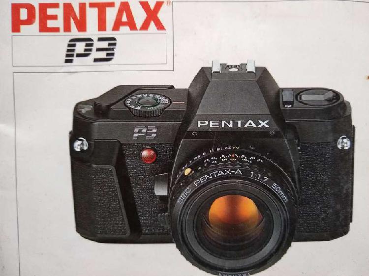 Vendo cámara pentax p3 impecable con estuche -con lente smc