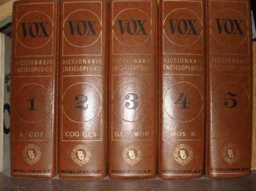 Vox diccionario enciclopedico ed. biblograf