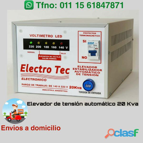 Elevador de tensión 20kva   20000 watts | comercios