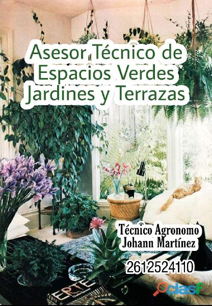 Asesoramiento técnico de espacios verdes jardines y Terrazas