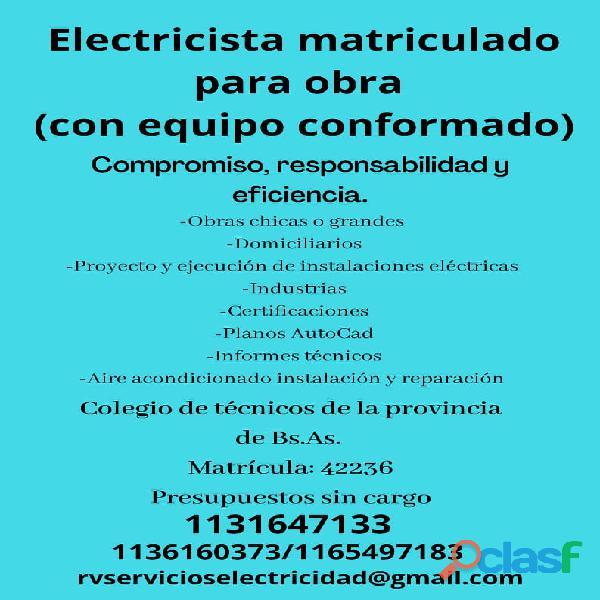 Electricista Matriculado con Equipo Conformado 1