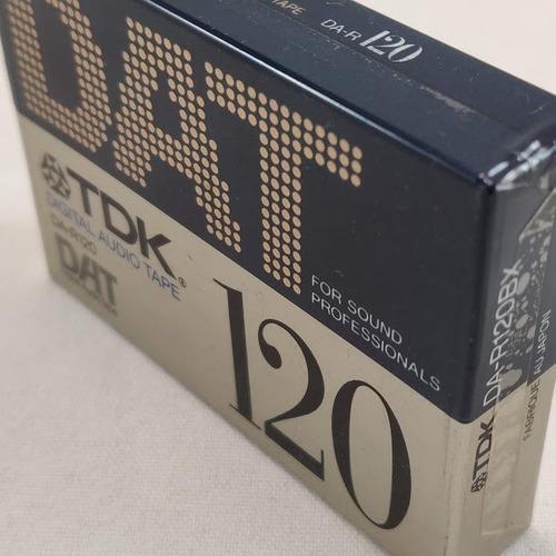 Cassette dat digital audio tape virgen nuevo sellad tdk 120