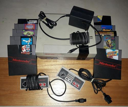 Consola nintendo nes original completa + 5 juegos