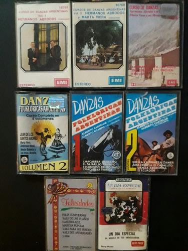 Lote cassettes variado danzas folclóricas y aniversarios