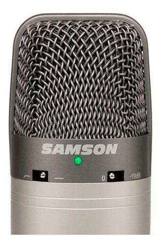 Micrófono condenser samson c03u multipatrón usb +