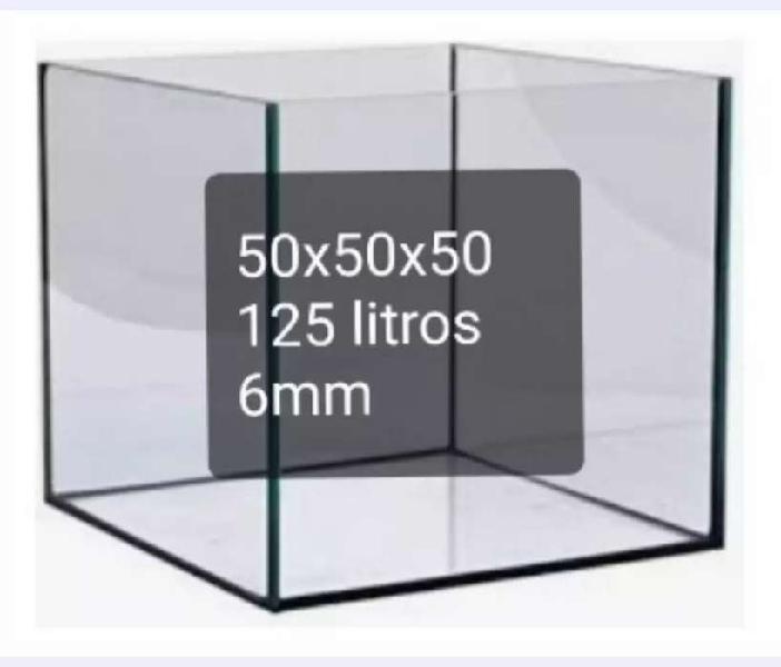 Pecera cubo 50x50x50 6mm