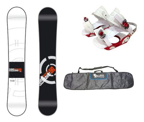 Tabla de snowboard nitro + fijaciones + funda combo equipo