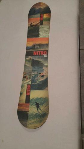 Tabla snowboard nitro ripper 132 snow usada niños kids