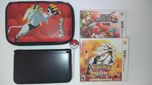 Nintendo 3ds xl + 2 juegos + funda original edición