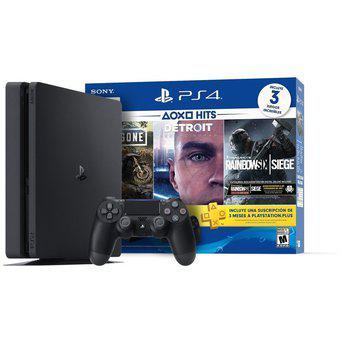 Consola sony playstation 4 slim 1tb+ 3 juegos + ps plus -