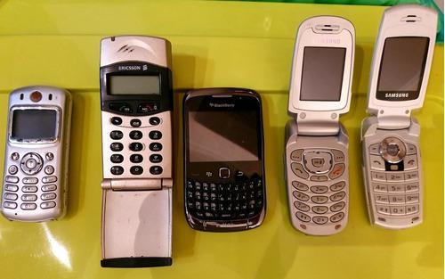 Lote de celulares antiguos para reparar o repuestos