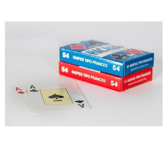 Mazo de naipes hachazo 54 cartas de poker plastificados azul