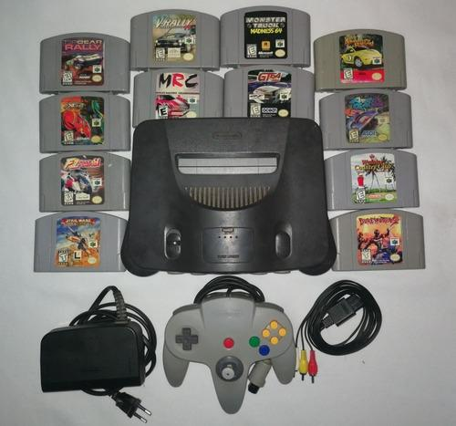 Nintendo 64 lote consola + 12 juegos
