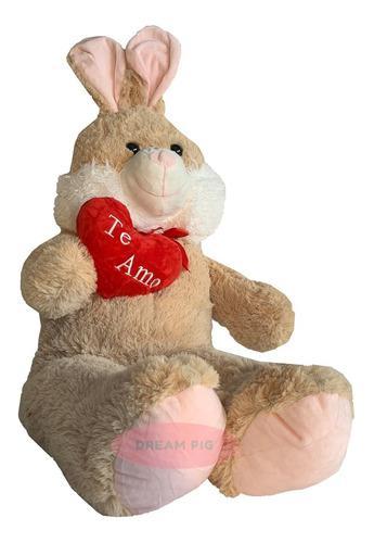 Peluche conejo gigante 1 metro bebe corazón te amo grande