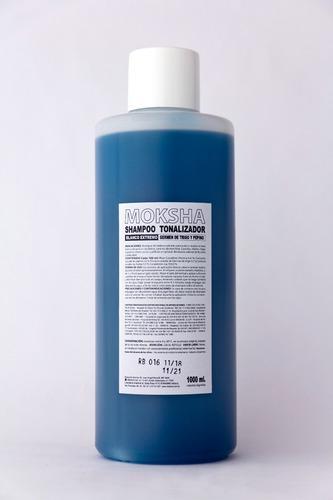 Shampoo perro gato moksha x1 litro tonalizado blanco extremo