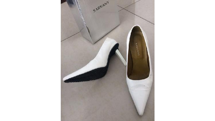 Zapatos mujer stilettos sarkany - blanco -talle 39