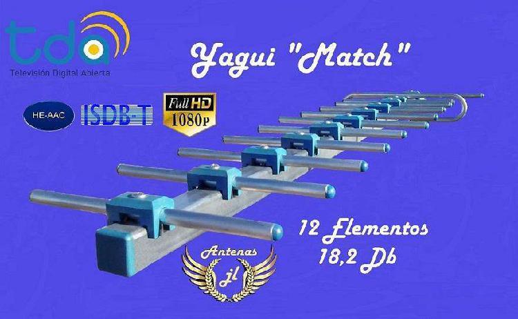 Antena tda yagui match. 12 e 18,2 db mas de 3o señ hd. lo