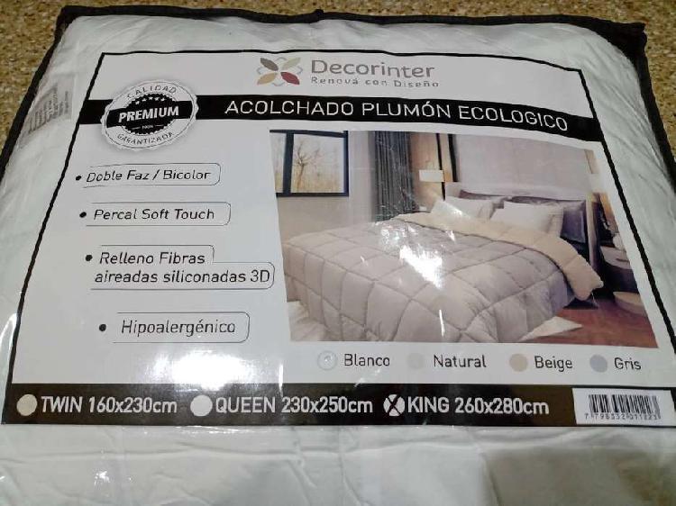 Acolchado plumón ecológico king size 2.60x2.80