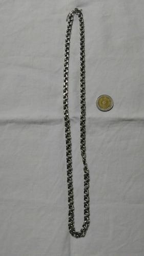 Antigua cadena de plata unisex