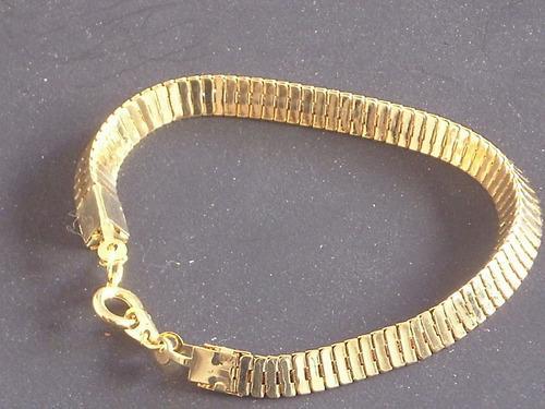 Antigua pulsera grueso medio de metal dorado retro cº doju6