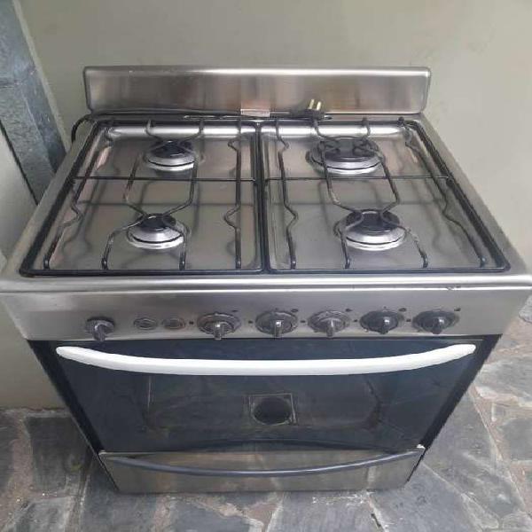 Cocina longvie acero inoxidable 60cm 4 hornallas, horno,