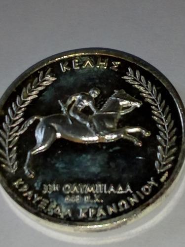 Medalla plata pura 999 olimpíadas grecia carrera d