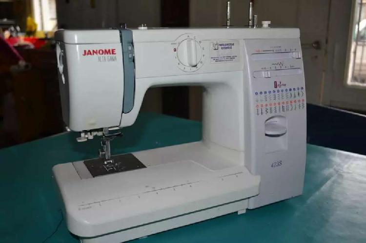 Máquina de coser recta janome 423s alta gama
