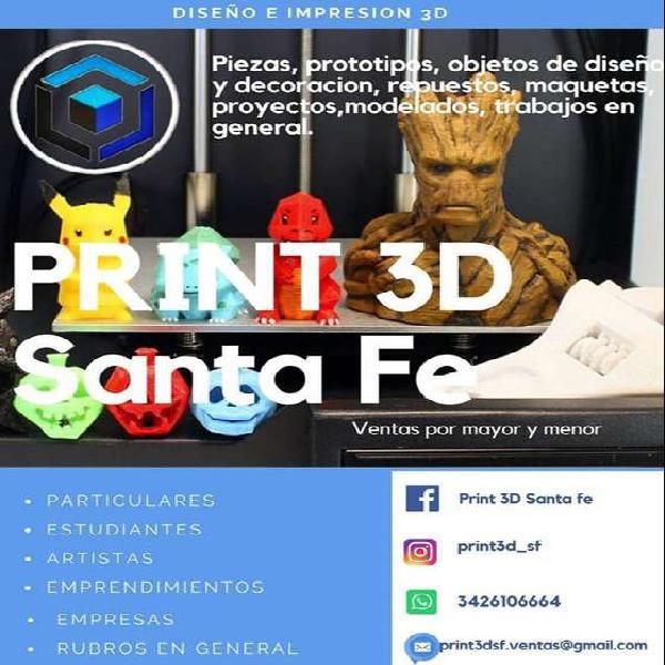 Print 3d santa fe (servicio de diseño e impresion 3d)