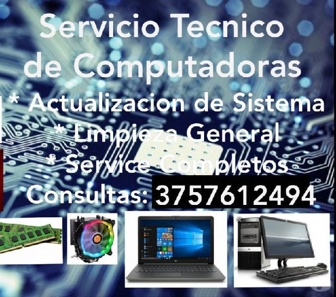 Servicio tecnico pc, notebooks