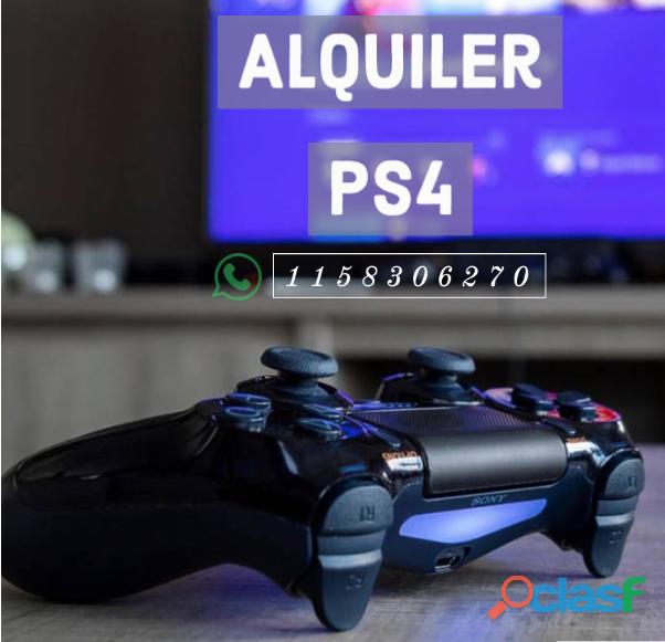 Alquiler Ps4 con controles y juegos por dia/finde/ semana 1158306270