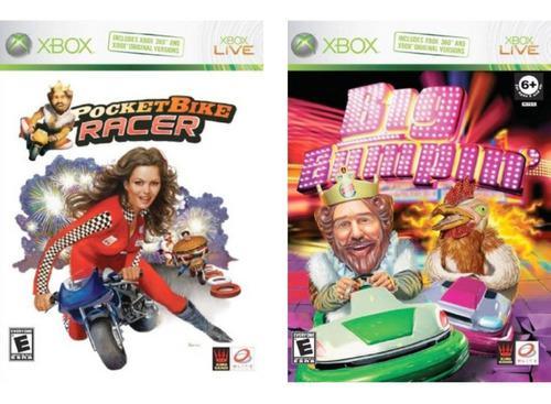 2 juegos xbox 360 - pocket bike racer + big bumping
