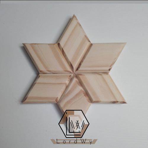 Adorno de pared estrella de madera - artesania